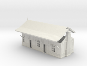LM44 Hulme End Station in White Natural Versatile Plastic