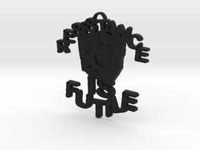 BORG Cube Pendant in Black Natural Versatile Plastic