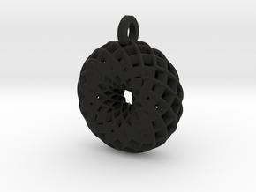Camellia Pendant in Black Natural Versatile Plastic