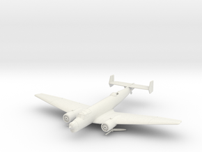 Junkers Ju 86 K in White Natural Versatile Plastic: 1:200