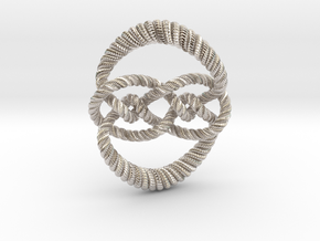 Knot 10₁₂₀ (Rope with detail) in Platinum: Large