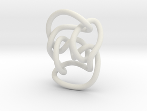 Knot 10₁₄₄ (Circle) in White Natural Versatile Plastic: Extra Small