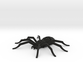 Orb-weaver spider, pendant in Black Natural Versatile Plastic
