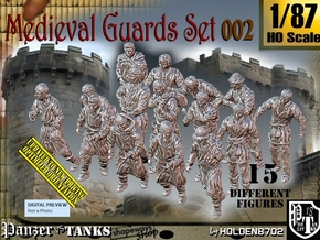 1/87 Medieval Guards Set002 in Smooth Fine Detail Plastic