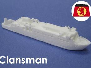 MV Clansman (1:1200) in White Natural Versatile Plastic