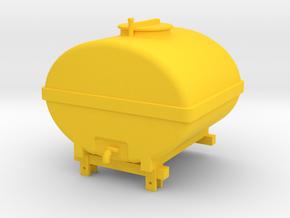 Aufbaufass in Yellow Processed Versatile Plastic