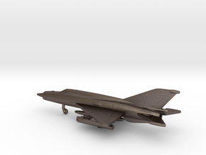 MiG-21bis Fishbed-L in Polished Bronzed Silver Steel: 1:200