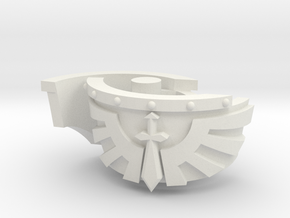 Kataphraktos Shoulder Pad - Angel Sword - Left set in White Natural Versatile Plastic: Small