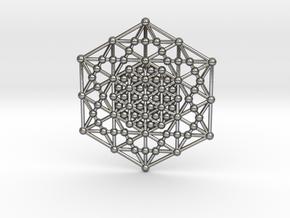 Merkaba Kabbala Grid in Polished Silver