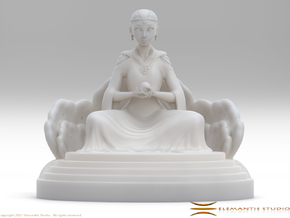 Ivory Tower Throne Stand 7cm in White Natural Versatile Plastic