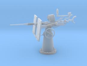 1/30 USN 20mm Single Oerlikon Mk4 shielded in Smooth Fine Detail Plastic