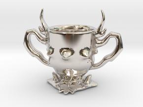 Hades' hunt pendant in Rhodium Plated Brass
