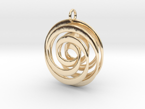 Mobius VI in 14k Gold Plated Brass