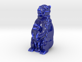 Big Bear  in Gloss Cobalt Blue Porcelain
