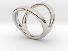 Ring 1 for fergacookie D1 3 D2 4 Len 180 in Rhodium Plated Brass
