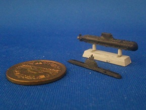 1/2000 Type 214 submarine in Smooth Fine Detail Plastic