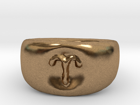 Aries Ring sz8 in Natural Brass