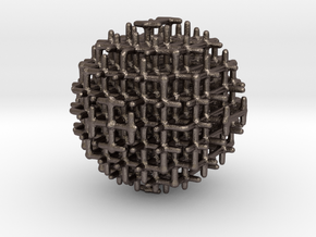 sphere_m in Polished Bronzed Silver Steel