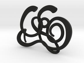 Gijsbrechts Calligraphy Pendant in Black Strong & Flexible