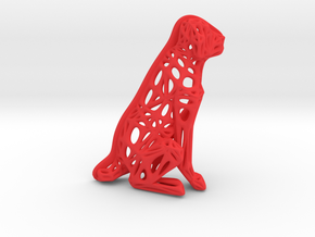 Voronoi Dog Sitting in Red Processed Versatile Plastic