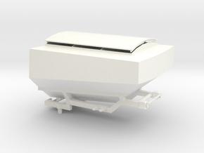 1:32 Aufbautank Xerion 4000 Teil 2 von 2 in White Processed Versatile Plastic: 1:32