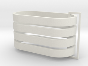Parkhecke oval (Buchsbaum) 4er Set 1:120 in White Natural Versatile Plastic