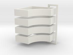 Parkhecke quadratisch einfach ausgerundet (Buchsba in White Natural Versatile Plastic
