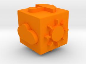 WeatherDiseB in Orange Processed Versatile Plastic: Small