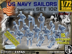 1/72 USN Dungaree Set102 in Smooth Fine Detail Plastic
