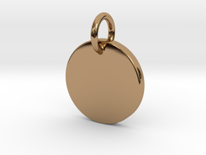 Initial Pendant - Round in Polished Brass