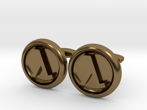 Half-Life Logo Cufflinks in Polished Bronze