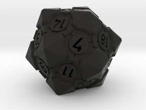 Companion Cube D20 - Portal Dice in Black Natural Versatile Plastic: Large