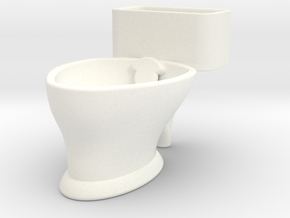 """Loo"" coffee cup in White Processed Versatile Plastic"