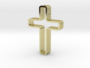 Infinity Cross Pendant in 18k Gold Plated Brass