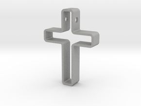 Infinity Cross Pendant in Aluminum
