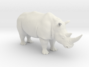 Rhinoceros in White Natural Versatile Plastic