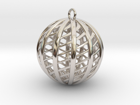 Excelate C in Rhodium Plated Brass: Small