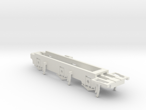 7mm - L&YR Class 28 - 0 Chassis in White Natural Versatile Plastic
