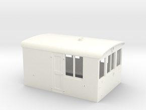 O Scale GE 23 Ton Box Cab Cab in White Processed Versatile Plastic