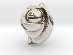 ExcelateB in Rhodium Plated Brass: Small