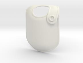 Baby bib X-mas ornament in White Natural Versatile Plastic