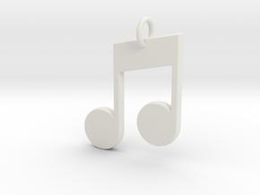 Music in White Natural Versatile Plastic