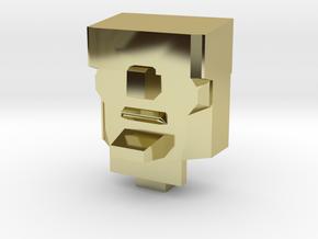 G1 Scorponok Head 'Grumpier Edition' in 18k Gold Plated Brass