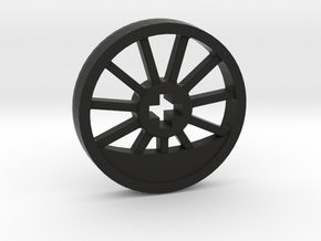 Medium Blind Thin Wheel in Black Natural Versatile Plastic