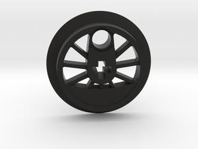 Medium Driver No Traction Groove in Black Premium Versatile Plastic