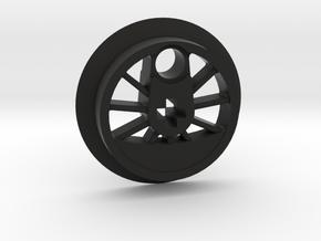Medium Driver With Tire Groove in Black Premium Versatile Plastic