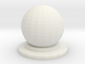 Sphere Piece Small in White Natural Versatile Plastic