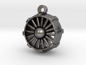 JetEngine Pendant in Polished Nickel Steel: Small