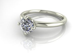 Classic Solitaire 20 NO STONES SUPPLIED in Fine Detail Polished Silver