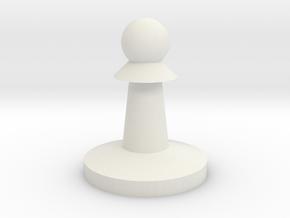 Basic Pawn in White Natural Versatile Plastic